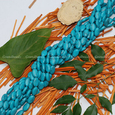 """Wholesales 10 strands x 8x12mm Oval Howlite Turquoise Gemstone Beads 15"""" GB245"""