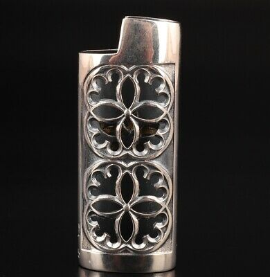 Precious Chinese 925 Silver Solid Silver Real Silver Lighter Shell Mascot Flower