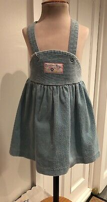 Vintage St Michael (M&S) Turquoise Pinafore Skirt Age 2-3