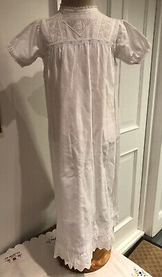 Vintage Baby Cotton Christening Gown Age 3-6 Months