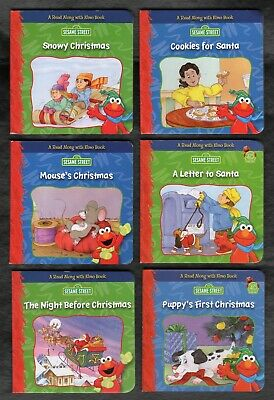 Sesame Street 6 NEW Read Along with Elmo Christmas Themed Board