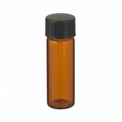 4 ml Amber Glass Screw-Top Vial (Black Cap) Case 144 by Berlin Packaging