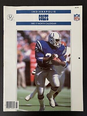 1985 Indianapolis COLTS 17 month Calendar 1984 NFL Game Schedule Randy McMillan