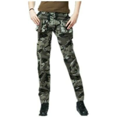 Outdoor Women's Military Cargo Pants Hiphop Overalls Harem Camo Trousers Casual