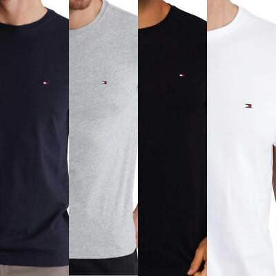 Tommy Hilfiger Crew Neck Tshirt Short Sleeve Cotton Tees embroidery logo