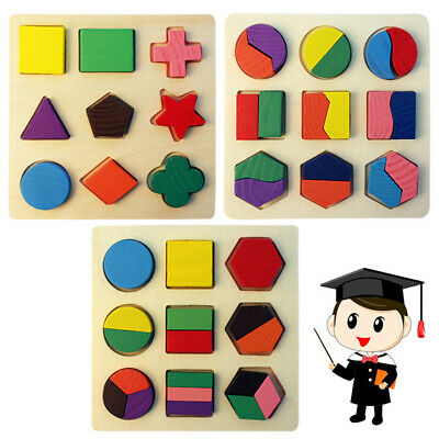 Children Wooden Puzzle Toy Shape Classification Kid's Early Educational Toys