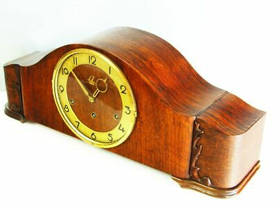 Art Deco Westminster Chiming Mantel Clock From Goldanker  Black Forest Germany