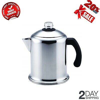 8-Cup Stainless Steel Percolator Coffee Stovetop Percolator Dishwasher Safe