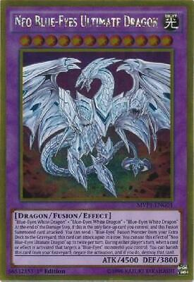 Neo Blue-Eyes Ultimate Dragon - MVP1-ENG01 - Gold Rare 1st Edition NM 3Q6