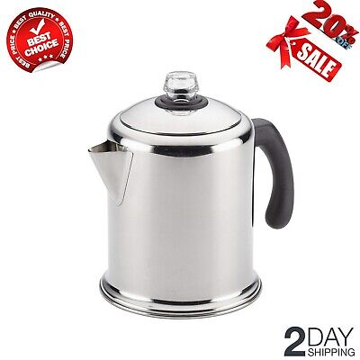 12-Cup Stainless Steel Percolator Coffee Stovetop Percolator Dishwasher Safe