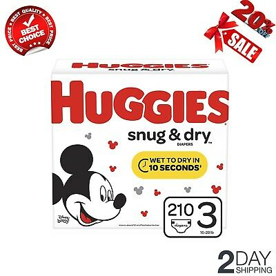 Huggie Diapers 210 count Huggie Snug & Dry For 16 to 28 lbs Baby Diapers Size 3