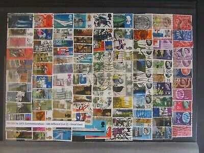 100 GB Commemorative Stamps 1953 - 1971 - Good Used ( Lot 2 )
