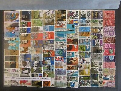 100 GB Commemorative Stamps 1953 - 1973 - Good Used ( Lot 3 )
