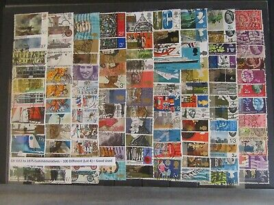 100 GB Commemorative Stamps 1953 - 1975 - Good Used ( Lot 4 )