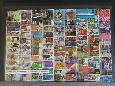 100 GB Commemorative Stamps 1953 - 1979 - Good Used ( Lot 6 )