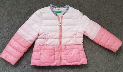 Girls Padded Hooded Winter Coat/Puffa Jacket From Benetton, 2 Yrs, Pinks