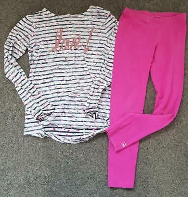 Gorgeous Girls 2 Piece Outfit,  Leggings And Top From Benetton 7 Yrs