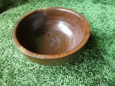 Hand turned wooden bowl made from Laburnum - excellent quality