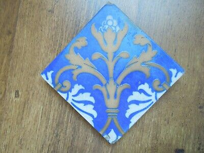 ANTIQUE VICTORIAN ENCAUSTIC MINTON TILE - 1860s