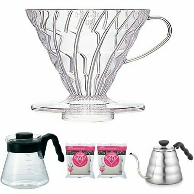 Hario V60 Coffee dripper 02 Clear VD-02T for 1 to 4 cups Japan