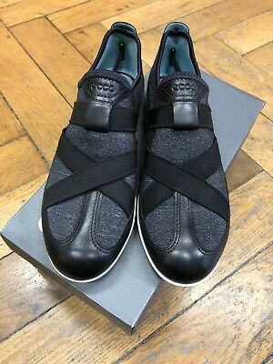 Details about Women's Ecco Soft 8 Banded Slip On Sneakers Loafers Black Grey Size EU 41 US 10