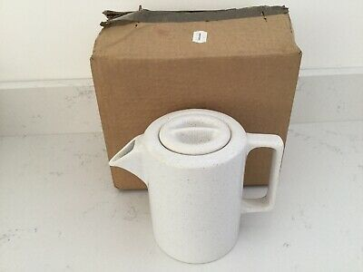 Goblin / Swan 860 Teasmade replacement teapot White with Brown Speckle VGC Boxed