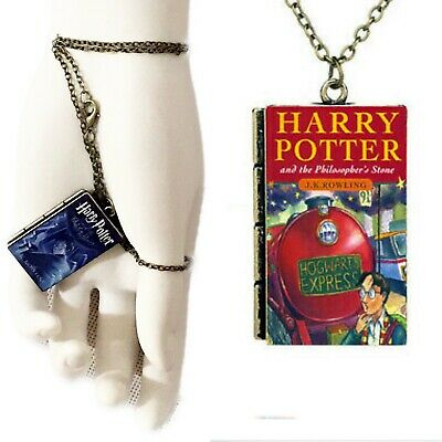 Necklace Harry Potter and the Philosopher's Stone Book Pendant Miniature Chain