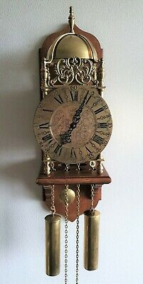 Lantern Wall Clock Rob Evens Vintage Chain Driven 8 Day Seperate Chair Mount