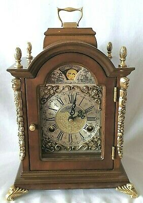 Warmink Mantel Clock Moon Dial Moon Dial 8 Day Dutch Shelf Clock Bell Strike