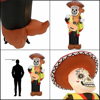 7 ft. Pre-Lit Inflatable Day of the Dead Man Airblown Halloween Decoration