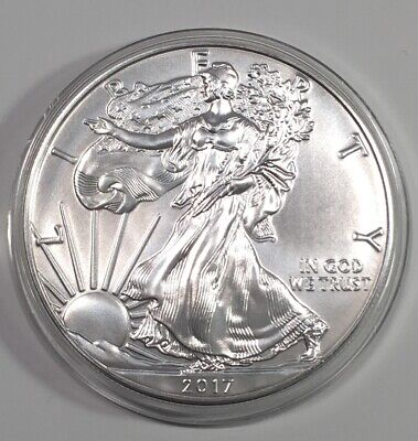 2017 1 oz Silver Bullion Coin American Eagle BU
