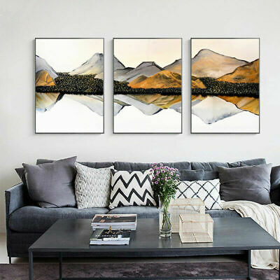 Mountain Reflection Nordic Abstract Wall Print Canvas Poster Living Room Decor