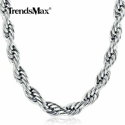 2/3/4mm Fashion Silver Solid Twist Rope Chain Necklace Wedding Jewerly 18-30""