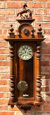 Large Grand Antique Walnut Vienna Wall Clock dil04
