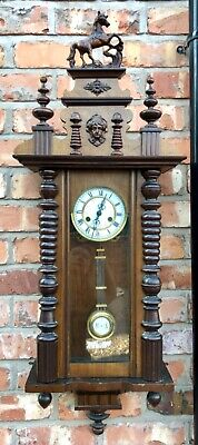 Antique Walnut Vienna Wall Clock dil02