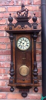 Antique Walnut Vienna Wall Clock