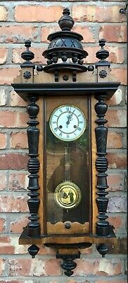 Antique Walnut Vienna Wall Clock dil03