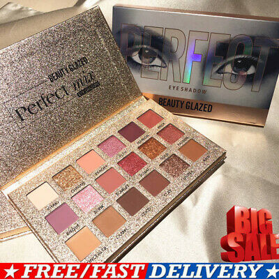 ❀Beauty Glazed Eyeshadow Palette Ultra Pigmented Mineral Pressed Glitter Makeup❀