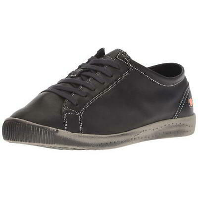 Softinos by Fly London Isla Womens Black Soft Leather Trainers Shoes Size 4-8