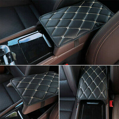 Universal Car SUV Armrest Pad Cover Auto Center Console Box PU Leather Cushion