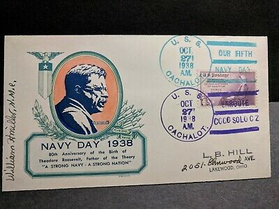 Submarine USS CACHALOT SS-170 Naval Cover 1938 BUCHWALD NAVY DAY Cachet
