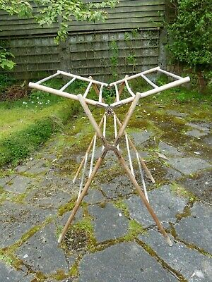 Antique American Wooden Folding Clothes Horse