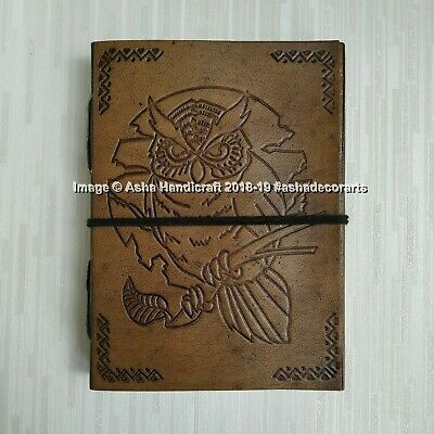 Indian Halloween Special Leather Diary Journals Hippie Owl Sketchbook Blank Book