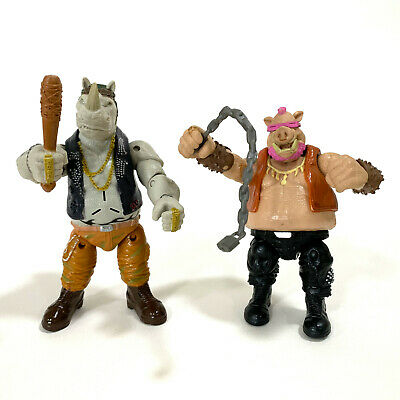 Teenage Mutant Ninja Turtles Rocksteady & Bebop Figures 2015 TMNT LOOSE
