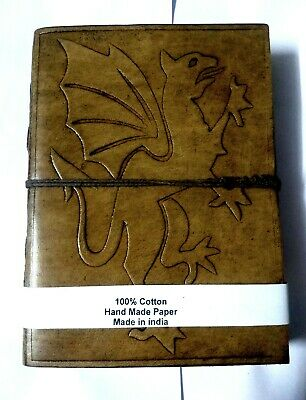 Embossed Dragon Printed Leather Diary Antique Paper Note Book Journal Ethnic Art