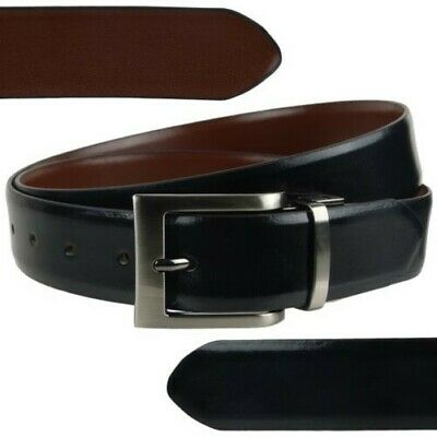 """Mens Reversible 1.25"""" Wide Leather Belt by Mala Leather; Classic Collection up t"""