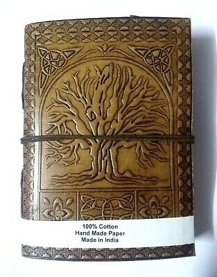 Indian Celtic Tree Embossed Handmade Antique Leather Diary Journal Sketchbook