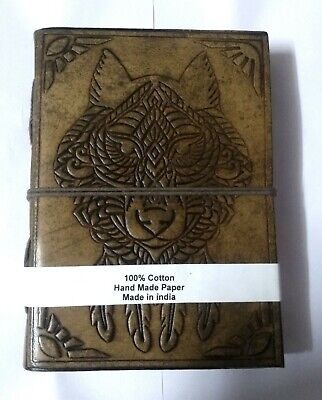 Indian Werewolf Embossed Leather Diary Paper Cotton Handmade Notebook Halloween