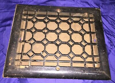 RP2836 Antique Cast Iron Wall Mounted Heat Register Grate