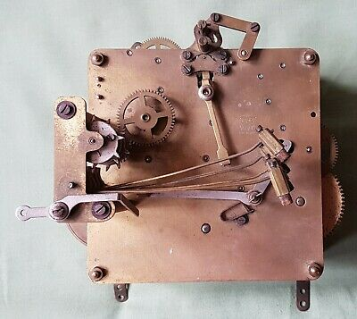 Antique striking ANVIL Clock Movement, MADE IN BARDEN